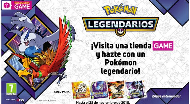 Pokémon Legendarios Lugia Ho-Oh Evento GAME