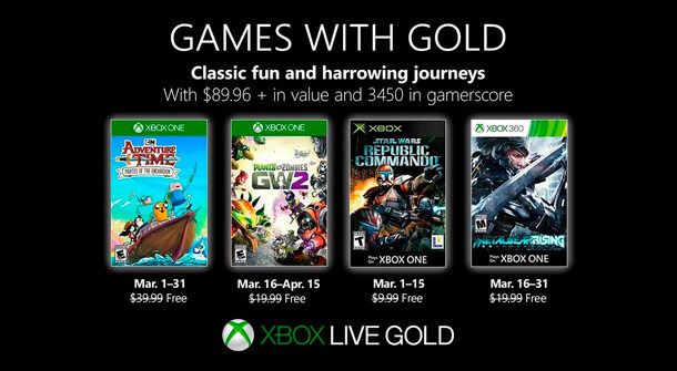 Games with Gold Xbox Live Gold Marzo 2019 610x335 - Llegan los Games with Gold de Xbox para marzo de 2019